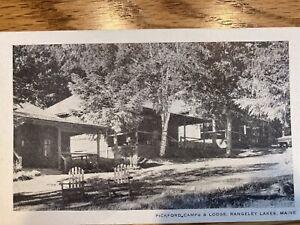 RANGELEY, MAINE  Region 114 Years Ago - PICKFORD CAMPS -Genuine RPPC(Real Photo)