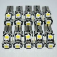 10Pcs T10 12V W5W 7020 Cool White Led Car Tail Side Lights Turn Park Bulb Set