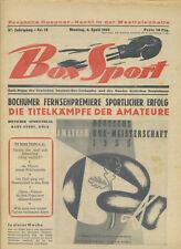 Zeitschrift Box Sport 37. Jahrgang 1955 Nr. 14 Amateur Meisterschaft Boxen