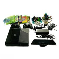 Xbox 360 E Console 4 GB Kinnect 6 Video Games Bundle 2 Controllers