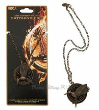 Hunger Games CATCHING FIRE Mockingjacy Logo District 12 Necklace W/ Secret Quote