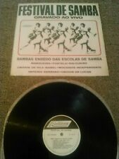 FESTIVAL DE SAMBA - GRAVADO AO VIVO LP / RARE ORIGINAL DISCNEWS BRAZIL DN 68/2