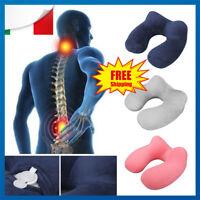 Collare per trazione cervicale gonfiabile cuscino viaggio allevia dolore collo