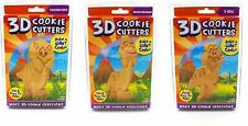 Just For Laughs 3D Cookie Cutters, Dinos 3pk (Triceratops, Brontosaurus, T-Rex)