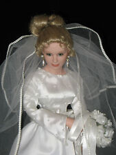 "Ashton-Drake ""Calla Lilies"" Porcelain Bride Doll with COA *not original bouquet"
