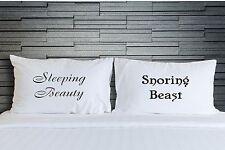 Printed Pillowcases Sleeping Beauty Snoring Beast Bedroom Bedding Novelty WSD747
