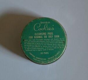 Vintage Dreskin Coolies Jar Tin Retro Duraglas Bathoom Beauty Mid Century Prop