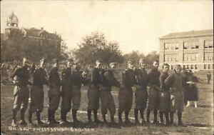 College Football Team Southwestern Gridiron Kansas? Real Photo Postcard c1905