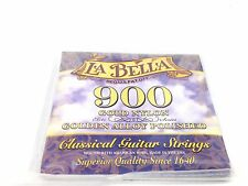 La Bella Guitar Strings Classical 900 Gold Nylon - Polished Golden Alloy Elite