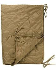 Military Coyote Brown Wet Weather Poncho Liner Woobie Camping Blanket Mil-Spec