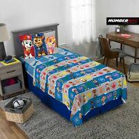 Paw Patrol 3 Piece Microfiber Twin Bedding Sheet Set & Pillowcase Kids Children