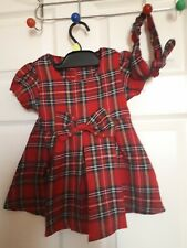 baby girl dress with headband 9-12 months