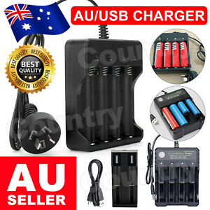 18650 Battery Charge Universal 4.2V Rechargeable Li-ion Battery Smart Charger AU