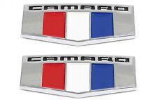2x OEM Camaro M Emblems Badge Front Right Left Fender 3D L Chevrolet BK Chrome