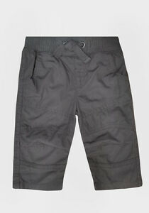 BOYS NEW GREY CARGO TROUSERS PANTS 100% COTTON SIZE 3 MONTHS- 5 YEARS