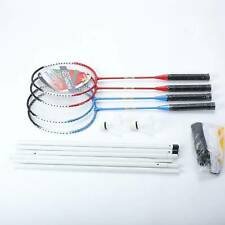 Indoor/Outdoor Portable Complete Badminton Set w/ Net 4 Rackets,2 Shuttlecocks