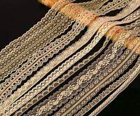 CraftbuddyUS 20m Asst Cream Vintage Lace Bridal Wedding Trim Ribbon Craft Cards