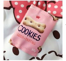 Cute Snacks Coin Purse (pink cookies)