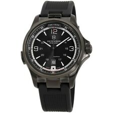 Victorinox 241596 Night Vision Stainless Steel Black Rubber Strap Men's Watch