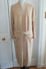 Luxurious M.I.L.A. Cashmere Blend Robe – Camel (Beige) NWT – One Size $348