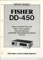 FISHER - DD-450 - Service Manual for stereo cassette tape deck - B7589