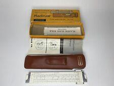 Vintage Dietzgen Redirule No. 1776 Slide Rule w/ Leather Case and Instructions
