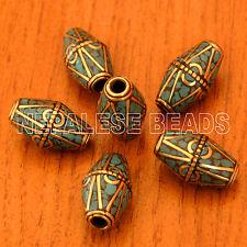 Large Hole Turquoise 100 Beads Custom Order Wholesale Nepalese W(BD2725E)