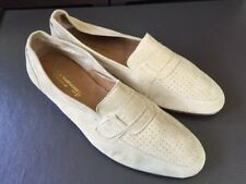 R. Martegani Boutique Line Handmade Italian Buff Soft Suede Loafers Italy 9.5 D
