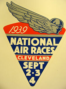 1939 NATIONAL AIR RACES WATER TRANSFER DECAL