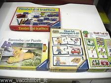 Lotto di 4 giochi in scatola RAVENSBURGER TIMBRI TRAFFICO PUZZLE EDUCATIVI
