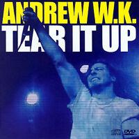 Andrew W.K. Tear It Up/Your Rules 2 track CD single bonus DVD videos ++ NEW!
