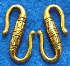 """50Pcs. WHOLESALE Tibetan Antique Gold """"S"""" Clasps Hooks Connectors Findings Q0722"""