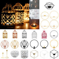Geometric Candlestick Metal Wall Tealight Candle Holder Sconce Home Decor Craft
