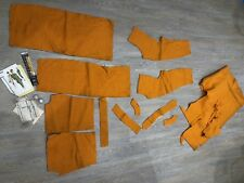 1950s Suit 2 Piece Orange Wool Fabric Pattern Zip Thread Project 12 Provenance