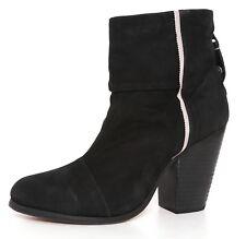 Rag & Bone High Heel Suede Booties Black Women 37.5 EUR 4894