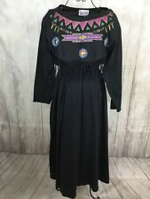 Vintage SASSA Womens Western Cowgirl Rodeo Square-dance Costume Dress Aztec 5-6