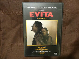 Evita (DVD, 1998, Widescreen) Madonna Excellent Condition