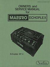 Maestro Echoplex EP4 Owners / Service Manual digital PDF file