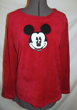 """Mickey Mouse fleece red black pajamas set Top & pants  Small 40"""" chest"""