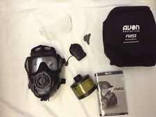 NEW Avon FM53 M53 protective gas mask twin port 40mm+VPU+MIC+FILTER.MEDIUM