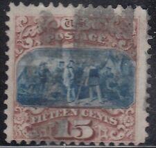 USA Scott #118 15ct Type I 1869 Pictorial Used CV $850