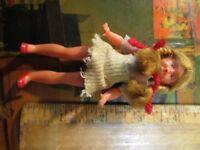 """vintage 4"""" doll figure doll"""