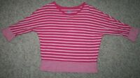 Old Navy Tee T-Shirt XL 14 Pink White Women's Crewneck Cotton Extra Large Woman
