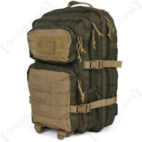 Green and Coyote MOLLE Assault Pack - Large Army Backpack Rucksack Bag 36L