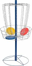 Portable Metal Disc Frisbee Golf Goal Set, Sleek Durable Outdoor Play Assemble
