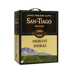 GRAN SAN TIAGO Merlot Shiraz Spanischer Rotwein 3L Bag in Box BiB 13,5% vol