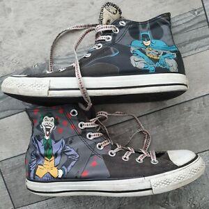 All Star Converse High Tops DC Comic Batman Joker Shoes UK Size 8 Superhero