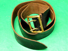 Genuine Russian Soviet USSR Army Officer's Leather Belt Black (Navy Troops)