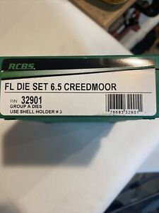 RCBS  6.5 Creedmoor FL Die Set P/N 32901 Brand New In Box Reloading Dies