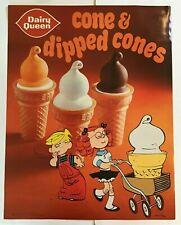 Vintage Dairy Queen Poster Dennis The Menace 1972 Dipped Cones Cone Hank Ketcham